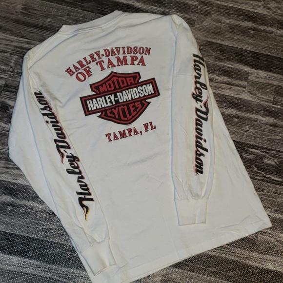 Harley-Davidson Other - Harley Davidson White Long Sleeve Shirt Size M